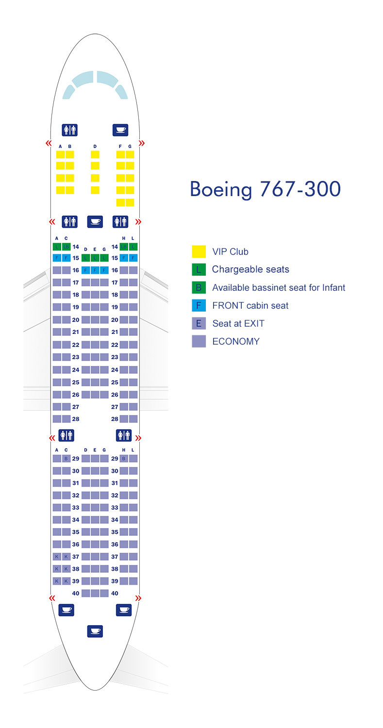 Seat Diagram Of Boeing 767 - Wiring Diagram Sch on